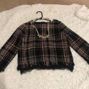 Zara Tweed Top S